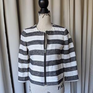 LOFT Crop Black & White Jacket Size 2P